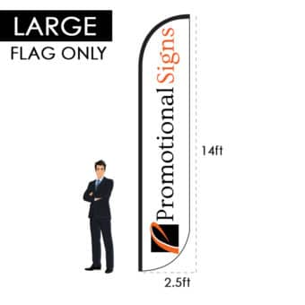 14ft Custom Feather Flag (Requires 17ft Pole Kit) – Flag Only