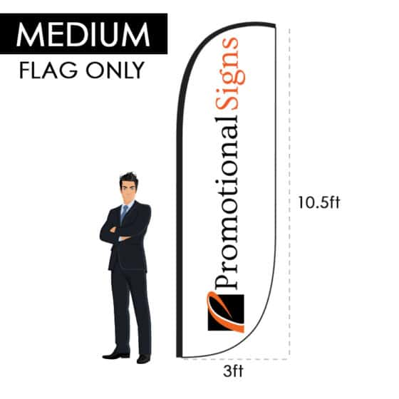 10.5ft Custom Feather Flag (Requires 14ft Pole Kit) – Flag Only